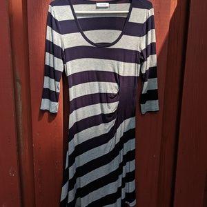 Asymmetrical Striped Calvin Klein Dress